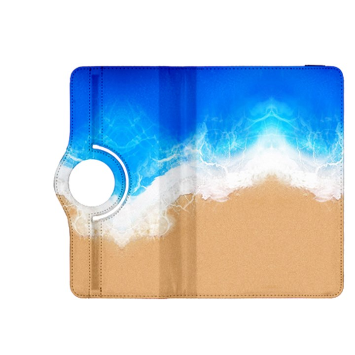 Sand Beach Water Sea Blue Brown Waves Wave Kindle Fire HDX 8.9  Flip 360 Case