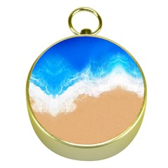 Sand Beach Water Sea Blue Brown Waves Wave Gold Compasses