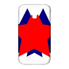 Stars Red Blue Samsung Galaxy S4 Classic Hardshell Case (pc+silicone)