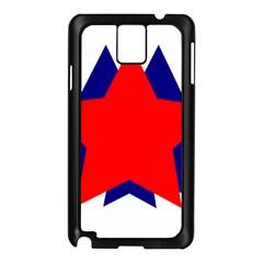 Stars Red Blue Samsung Galaxy Note 3 N9005 Case (Black)
