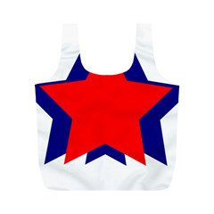 Stars Red Blue Full Print Recycle Bags (M)