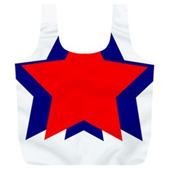 Stars Red Blue Full Print Recycle Bags (L)
