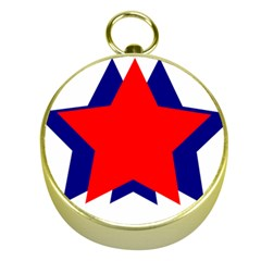 Stars Red Blue Gold Compasses