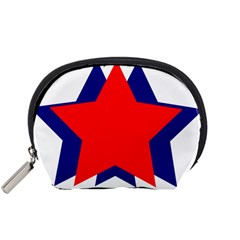 Stars Red Blue Accessory Pouches (Small)