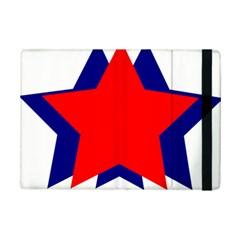 Stars Red Blue iPad Mini 2 Flip Cases