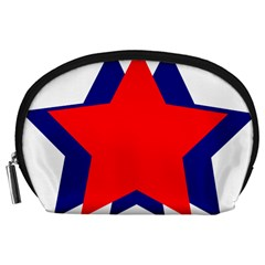 Stars Red Blue Accessory Pouches (Large)