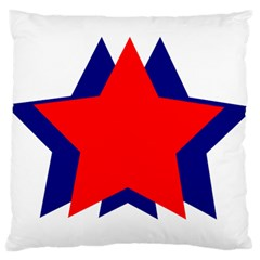 Stars Red Blue Standard Flano Cushion Case (One Side)