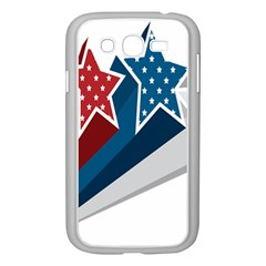 Star Red Blue White Line Space Samsung Galaxy Grand DUOS I9082 Case (White)