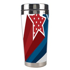 Star Red Blue White Line Space Stainless Steel Travel Tumblers