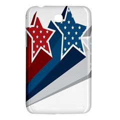Star Red Blue White Line Space Samsung Galaxy Tab 3 (7 ) P3200 Hardshell Case