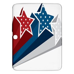 Star Red Blue White Line Space Samsung Galaxy Tab 3 (10.1 ) P5200 Hardshell Case
