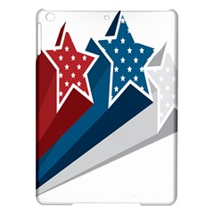 Star Red Blue White Line Space iPad Air Hardshell Cases