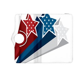 Star Red Blue White Line Space Kindle Fire HDX 8.9  Flip 360 Case