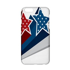 Star Red Blue White Line Space Apple iPhone 6/6S Hardshell Case
