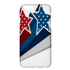 Star Red Blue White Line Space Apple iPhone 6 Plus/6S Plus Hardshell Case
