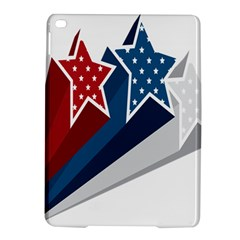 Star Red Blue White Line Space iPad Air 2 Hardshell Cases