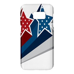 Star Red Blue White Line Space Samsung Galaxy S7 Hardshell Case