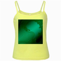 Fractals Lines Wave Pattern Yellow Spaghetti Tank
