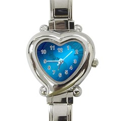Fractals Lines Wave Pattern Heart Italian Charm Watch