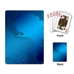 Fractals Lines Wave Pattern Playing Card