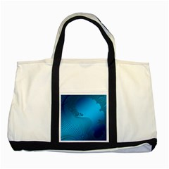 Fractals Lines Wave Pattern Two Tone Tote Bag