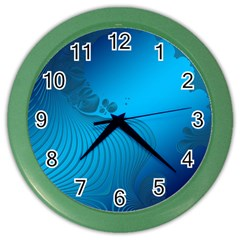 Fractals Lines Wave Pattern Color Wall Clocks