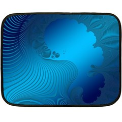 Fractals Lines Wave Pattern Fleece Blanket (Mini)