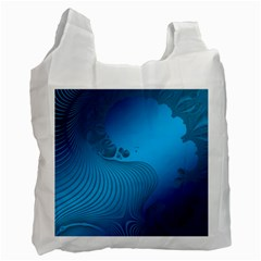 Fractals Lines Wave Pattern Recycle Bag (one Side)