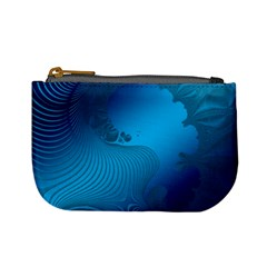Fractals Lines Wave Pattern Mini Coin Purses