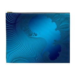 Fractals Lines Wave Pattern Cosmetic Bag (XL)
