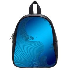 Fractals Lines Wave Pattern School Bags (small)