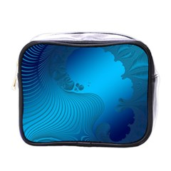 Fractals Lines Wave Pattern Mini Toiletries Bags