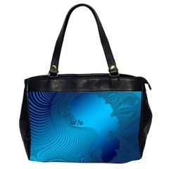 Fractals Lines Wave Pattern Office Handbags (2 Sides)