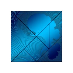 Fractals Lines Wave Pattern Acrylic Tangram Puzzle (4  x 4 )