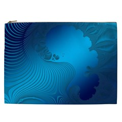 Fractals Lines Wave Pattern Cosmetic Bag (xxl)