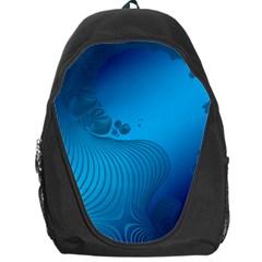 Fractals Lines Wave Pattern Backpack Bag