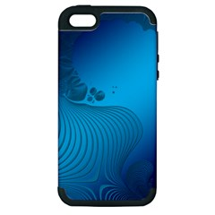 Fractals Lines Wave Pattern Apple Iphone 5 Hardshell Case (pc+silicone)