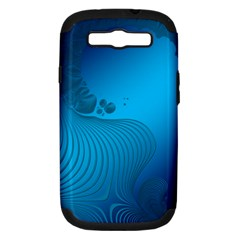 Fractals Lines Wave Pattern Samsung Galaxy S Iii Hardshell Case (pc+silicone)