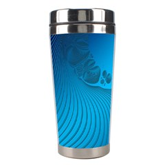 Fractals Lines Wave Pattern Stainless Steel Travel Tumblers