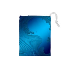 Fractals Lines Wave Pattern Drawstring Pouches (Small)