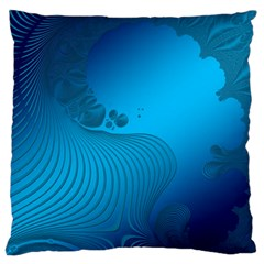 Fractals Lines Wave Pattern Large Flano Cushion Case (One Side)