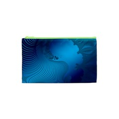 Fractals Lines Wave Pattern Cosmetic Bag (xs)