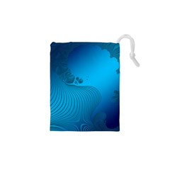Fractals Lines Wave Pattern Drawstring Pouches (XS)