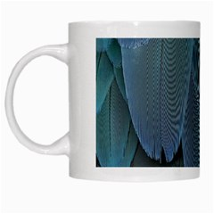 Feather Plumage Blue Parrot White Mugs