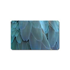 Feather Plumage Blue Parrot Magnet (Name Card)