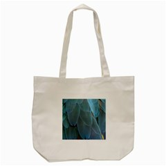 Feather Plumage Blue Parrot Tote Bag (Cream)