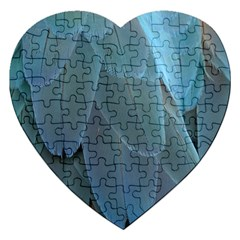 Feather Plumage Blue Parrot Jigsaw Puzzle (Heart)