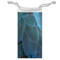 Feather Plumage Blue Parrot Jewelry Bag