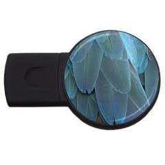 Feather Plumage Blue Parrot Usb Flash Drive Round (4 Gb)