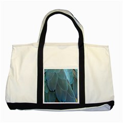 Feather Plumage Blue Parrot Two Tone Tote Bag
